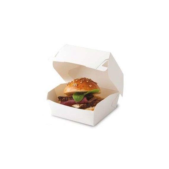 Caja mini hamburguesa. 100%Chef. 100un.