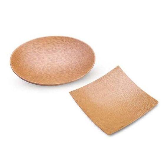 Mini plato de bambú ovalado. 100%Chef. 50un.