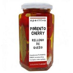Pimientos cherry rellenos de queso 250gr. Gourmet Leon