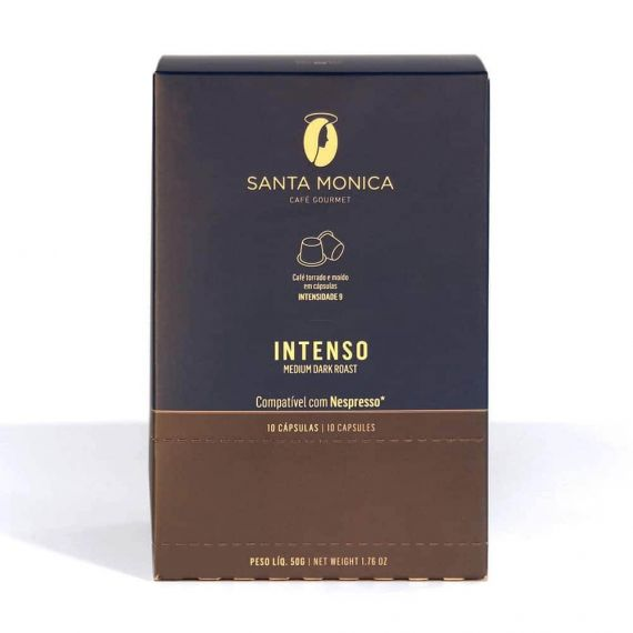 Café Gourmet tostado molido intenso en cápsulas compatibles con Nespresso - caja 10 unid