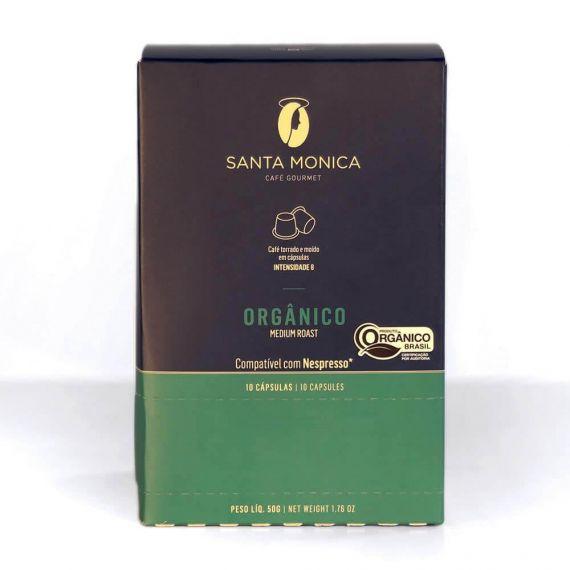 Café Gourmet tostado molido orgánico en cápsulas compatibles con Nespresso - caja 10 unid