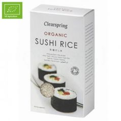 Arroz para sushi 500gr. Clearspring. 12 Unidades