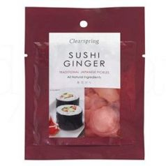 Ginger para sushi 105gr. Clearspring. 10 Unidades