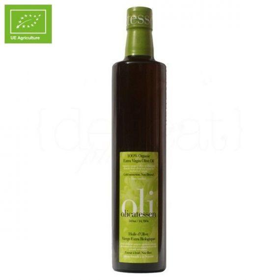 Aceite de oliva virgen extra ecológico 500ml. Olicatessen. 12 Unidades
