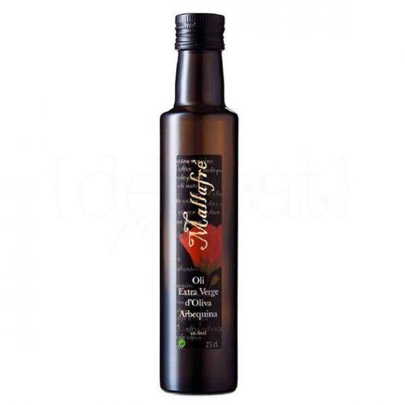 Aceite de oliva virgen extra 250ml. Mallafré. 12 Unidades
