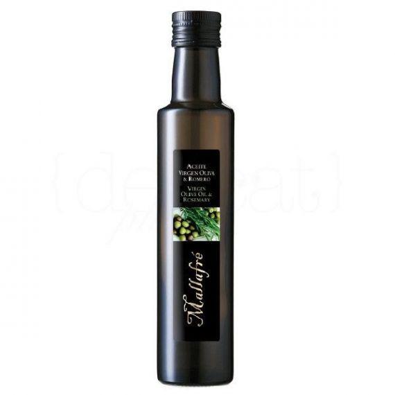 Aceite de oliva virgen con romero 250ml. Mallafré. 12 Unidades