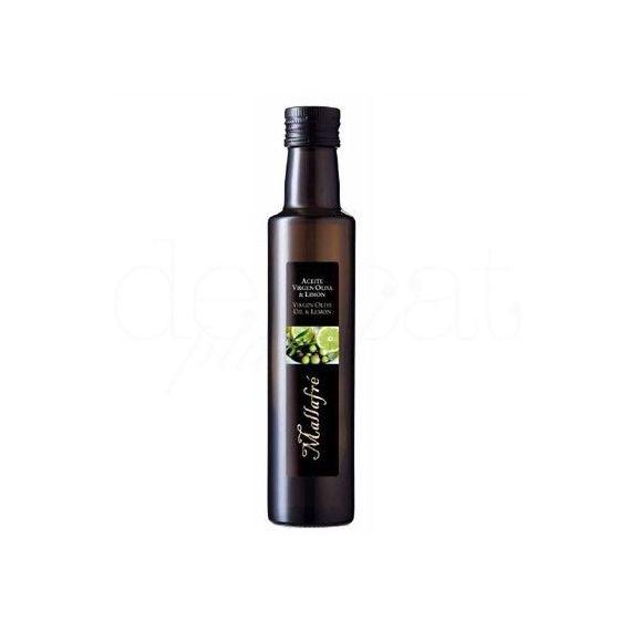 Aceite de oliva virgen con limón 250ml. Mallafré. 12 Unidades