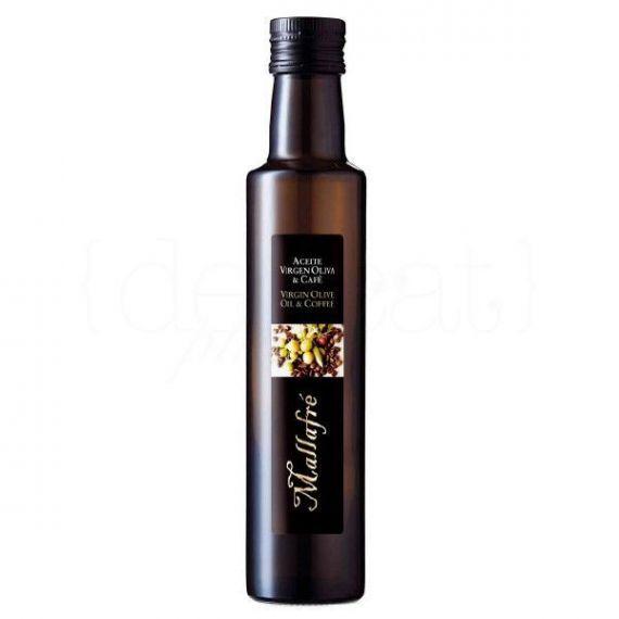 Aceite de oliva virgen con café 250ml. Mallafré. 12 Unidades