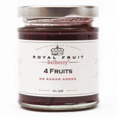 Confitura de 4 frutas sin azúcar 215gr. Belberry. 6 Unidades