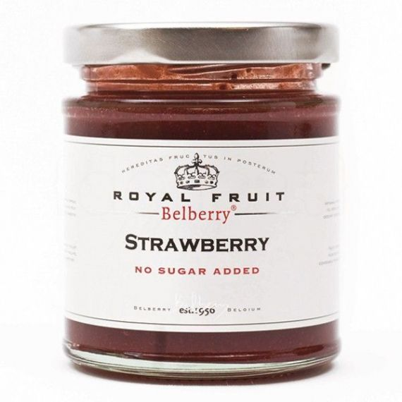 Confitura de fresas sin azúcar 215gr. Belberry. 6 Unidades