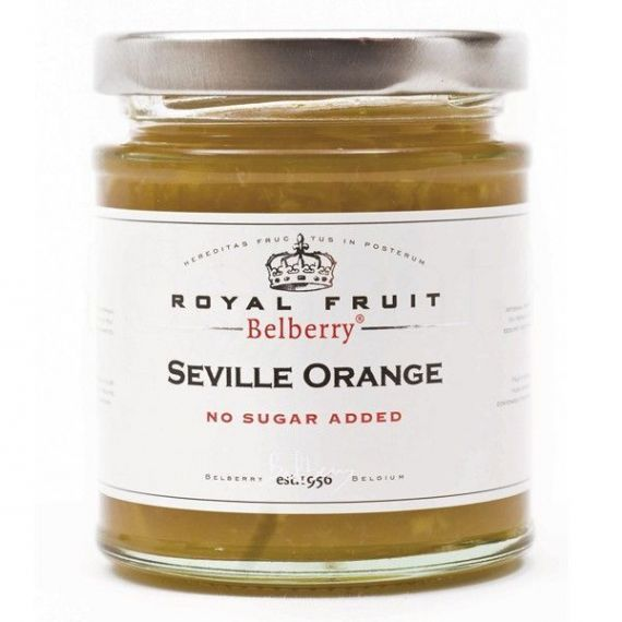 Confitura de naranjas de Sevilla sin azúcar 215gr. Belberry. 6 Unidades