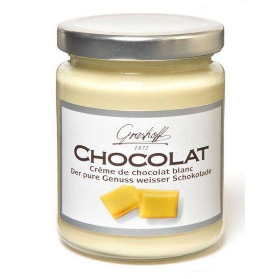 Crema de chocolate blanco 250gr. Grashoff. 6 Unidades