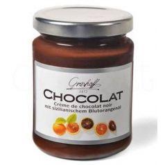 Crema de chocolate negro y naranja sanguina 250gr. Grashoff. 6 Unidades