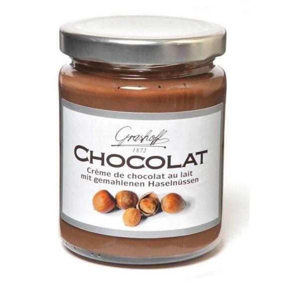 Crema de chocolate con leche y avellanas 250gr. Grashoff. 6 Unidades