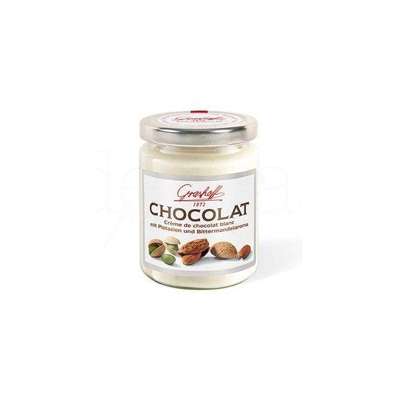 Crema de chocolate blanco con pistacho y almendra 250gr. Grashoff. 6 Unidades