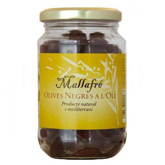 Aceitunas negras en aceite 210gr. Mallafré. 12 Unidades