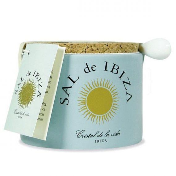 Flor de sal cerámica 150gr. Sal de Ibiza. 6 Unidades
