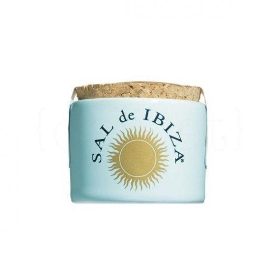 Flor de sal mini tarro cerámica 30gr. Sal de Ibiza. 12 Unidades
