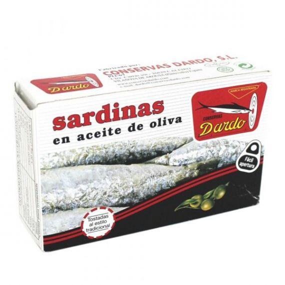 Sardinas en aceite de oliva RR-125, 3/4u. Dardo. 50 Unidades