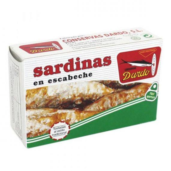 Sardinas en escabeche RR-125, 3/4u. Dardo. 50 Unidades