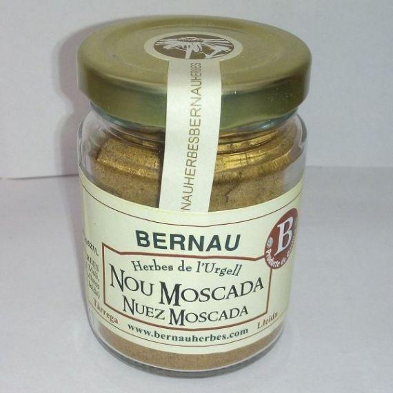 Nuez Moscada molida 40gr. Bernau Herbes de l\'Urgell. 12 Unidades