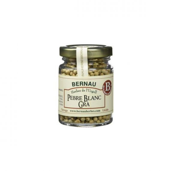 Pimienta blanca en grano 55gr. Bernau Herbes de l\'Urgell. 12 Unidades