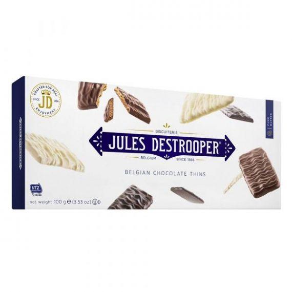 Biscuits de Azúcar Cande recubiertos de Chocolate 100gr. Jules Destrooper. 12 Unidades
