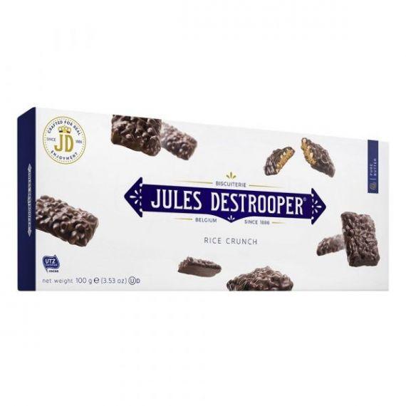 Biscuits Arroz crujiente recubiertos de Chocolate 100gr. Jules Destrooper. 12 Unidades