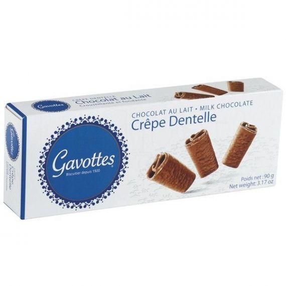 Crepes chocolate con leche 90gr. Gavottes. 18 Unidades