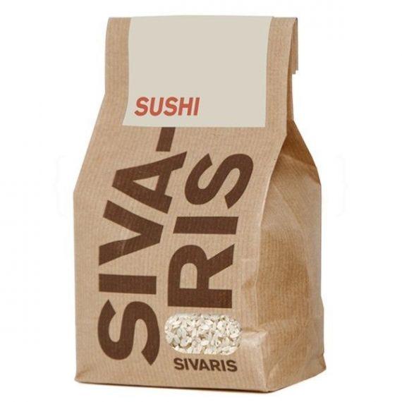 Arroz Sushi (papel kraft) 500gr. Sivaris. 6 Unidades