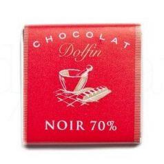 Chocolate Negro 70% Cacao 4,5gr. Dolfin. 360 Unidades