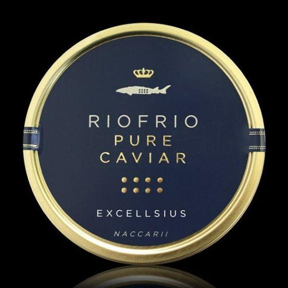 Caviar de Riofrío Tradicional Excellsius 100gr. Riofrío. 1 Unidades