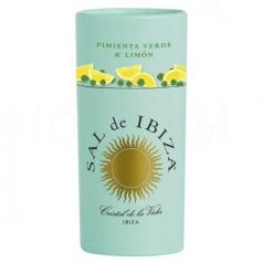 Granito Pimienta Verde y Limón 85gr. Sal de Ibiza. 12 Unidades