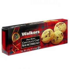 Shortbreads de Mantequilla con Trozos de Chocolate 125gr. Walkers. 12 Unidades