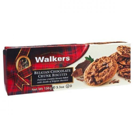 Biscuits con Trozos de Chocolate Belga 150gr. Walkers. 12 Unidades