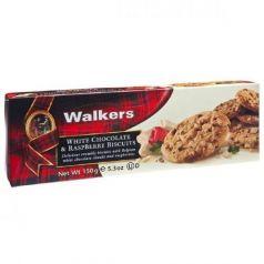 Biscuits con Trozos de Chocolate Blanco y Frambuesa 150gr. Walkers. 12 Unidades