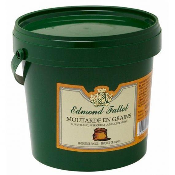 Mostaza en grano 1100gr. Edmond Fallot. 12 Unidades