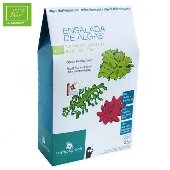 Ensalada de algas deshidratado Ecológico 25gr. Porto-Muiños. 8 Unidades