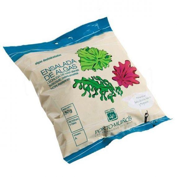 Ensalada de algas deshidratado (bolsa) 50gr. Porto-Muiños. 8 Unidades