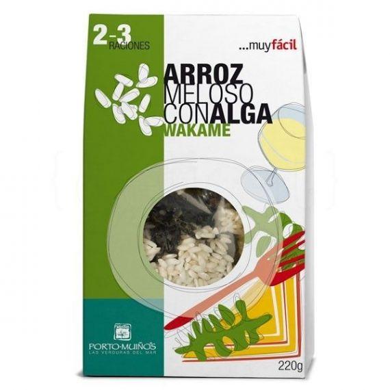 Arroz meloso con alga wakame 220gr. Porto-Muiños. 4 Unidades