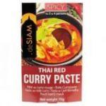 Pasta de curry rojo (picante) 70gr. deSIAM. 6 Unidades