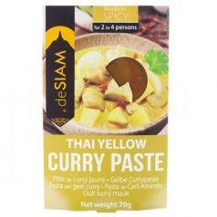 Pasta de curry amarillo (picante medio) 70gr. deSIAM. 6 Unidades