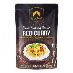 Salsa de curry rojo (con leche de coco, berenjenas y champiñones) 200gr. deSIAM. 6 Unidades