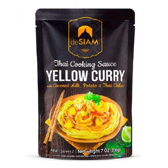 Salsa de curry amarillo (con leche de coco, papas y chiles tailandeses) 200gr. deSIAM. 6 Unidades