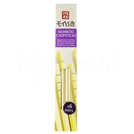 Palillos de bambú. Enso. 24 Unidades
