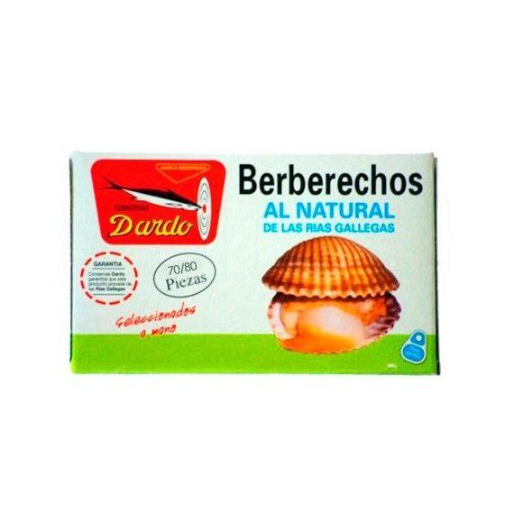 Berberechos al natural de Rias Gallegas OL-120, 70/80u. Dardo. 25 Unidades