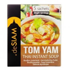 Sopa Tom Yam instantánea 50gr. deSIAM. 12 Unidades