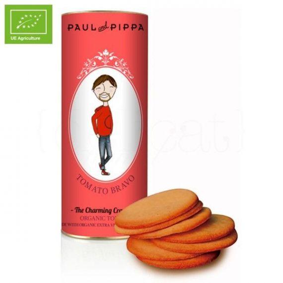 Galletas Canister de Tomate Ecológicas 130gr. Paul & Pippa. 6 Unidades