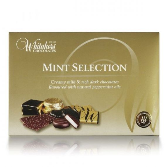 Mint Selection 225gr. Whitakers Chocolates. 8 Unidades