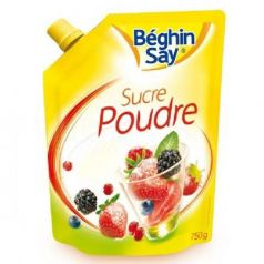 Azúcar en polvo 750gr. Béghin Say. 6 Unidades
